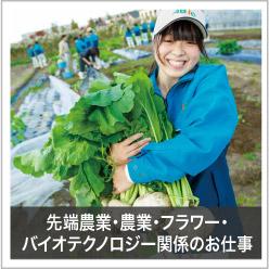 先端農業・農業・フラワー・バイオテクノロジー関係のお仕事