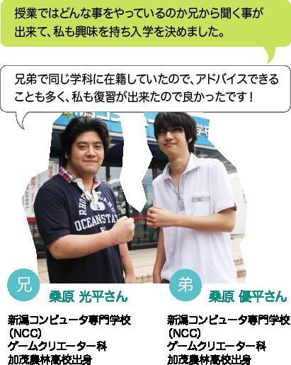 祝 貴輝さん:兄がBM生なので学費の一部が免除され、母親の負担を軽くできました。将来は兄と一緒にお店を出し、親孝行がしたいです。