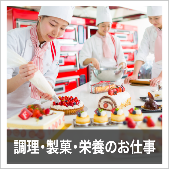 調理・製菓・栄養のお仕事